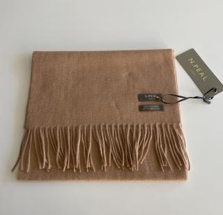 N.Peal Camel Cashmere Scarf