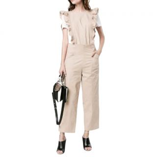 Ganni Ruffled Cuban Sand Jumpsuit
