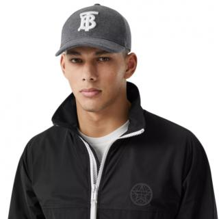 Burberry Monogram Motif Jersey Baseball Cap in Dark Charcoal
