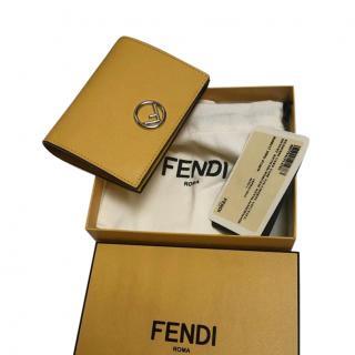 Fendi Yellow Leather Monogram Wallet