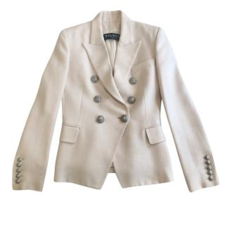 Balmain Blush Tailored Cotton Woven Jacket