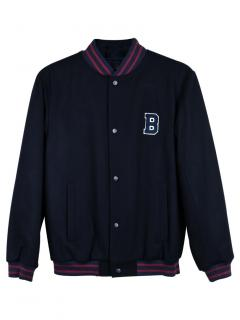 Brooks Brothers Embroidered Varsity Bomber