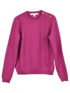 Brooks Brothers Pink Cashmere Cable Knit Jumper