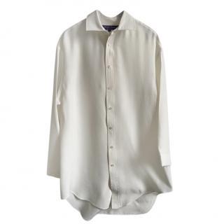 Ralph Lauren Collection White Silk Blend Shirt