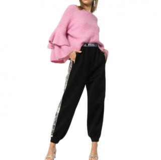 Miu Miu Logo Band Sequin Side Stripe Track Pants