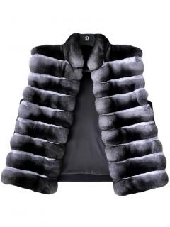 FurbySD Chinchilla Fur Sleeveless Gilet