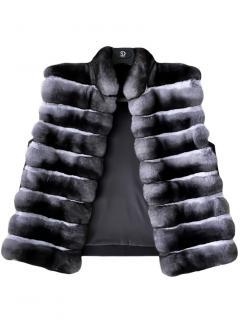 FurbySD Chinchilla Fur Sleeveless Gilet