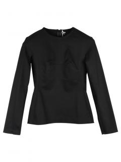 Chalayan Black Fitted Cotton Blend Top