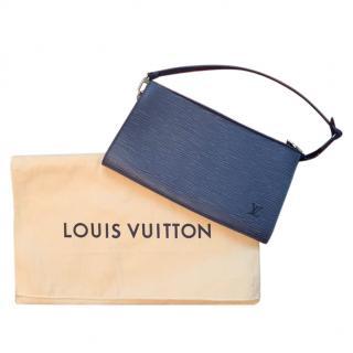 Louis Vuitton Vintage Marine Blue Epi Leather Pochette