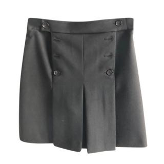 Mulberry Black Tailored Button Detail Shorts