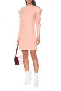 Victoria, Victoria Beckham Peach Wool Stretch Wool Blend Mini Dress