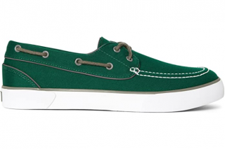 Polo Ralph Lauren Green Lander Canvas Boat Shoes
