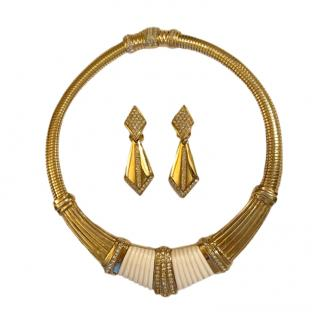 Christian Dior Vintage Crystall Collar & Earrings