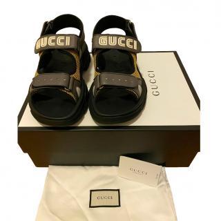 Gucci Grey/Gold Sega GUCCY Sandals