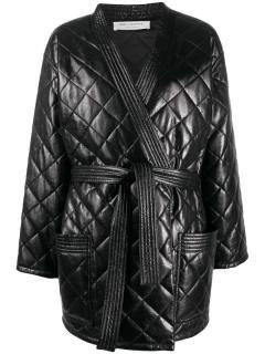 Philosophy di Lorenzo Serafini black quilted jacket