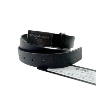 Dolce & Gabbana Men's Logo Buckle leather belt