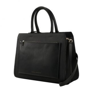 Victoria Beckham Black leather City Bag, size Medium.