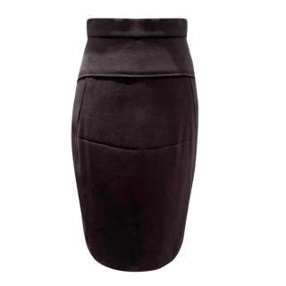 Donna Karan Black Wool Blend Skirt