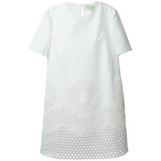Stella McCartney White Embroidered Shift Dress