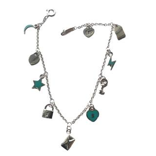 Tiffany & Co. Sterling Silver/Enamel Charm Bracelet