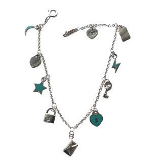 Tiffany & Co. Sterling Silver/Enamel Charm Bracelet