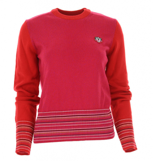 Kenzo Red/Pink Tiger Patch Sweater