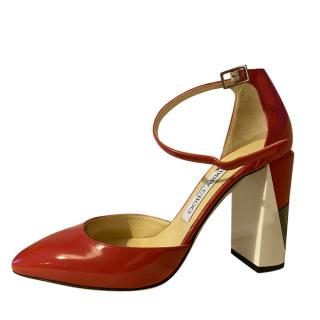 Jimmy Choo Mabel 95 Red Patent Pumps