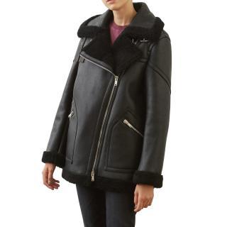 Dondup Double-breasted sheepskin jacket