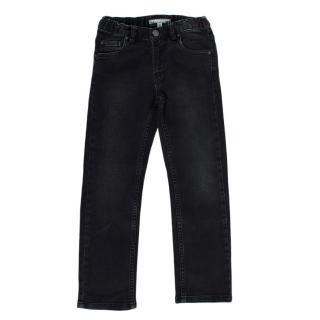 Bonpoint Black Cotton Denim Jeans