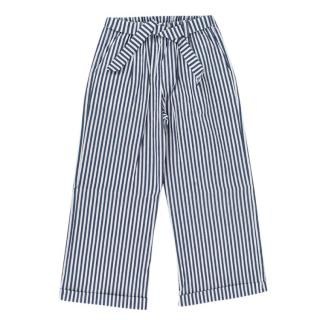 Jo Milano Navy and White Striped Wide Leg Pants