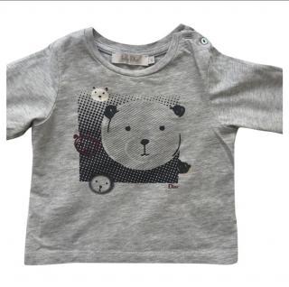 Dior Baby grey bear motif t-shirt 6 months