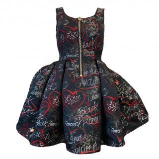 Philipp Plein Black Bliss Zip Front Dress