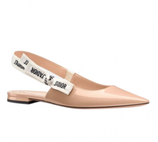 Dior Nude Patent J'Adior Slingback Ballerina Flat