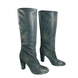 Chloe Susanna Studded Leather Knee Boots