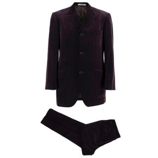 Kenzo Grape Wool Velvet Single Breasted Suit