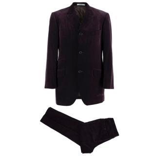 Kenzo Grape Wool Velvet Single Breasted Suit