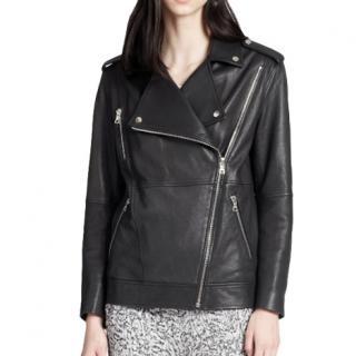 Elizabeth & James Asymmetric Zipper Leather Jacket