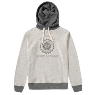 Saint Laurent french terry cotton reverse university hoodie