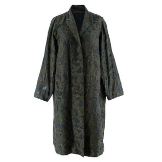 Annette Gortz Green Camo Print Brocade Coat