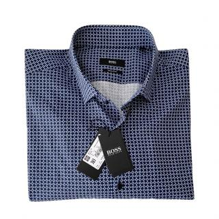 Boss blue checked cotton shirt