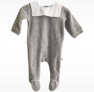 Jacadi grey velvet bodysuit
