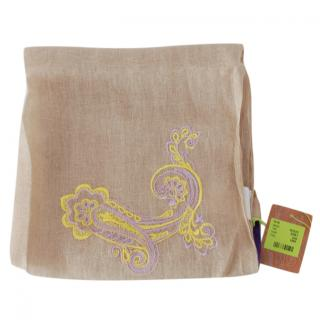 Etro Beige Linen Embroidered Scarf