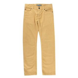 Bonpoint Mustard Cotton Corduroy 5 Pocket Trousers