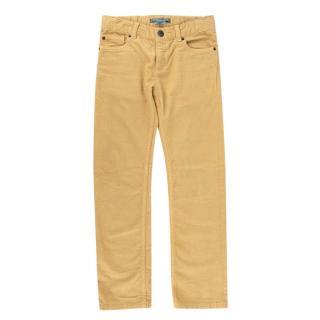 Bonpoint Mustard Cotton Corduroy 5 Pocket Trousers