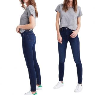 Madewell indigo wash high rise skinny jeans