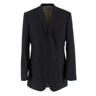 Ozwald Boateng Black Wool Blend Single Breasted Blazer