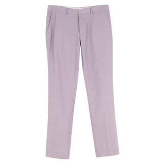 Frederik Anderson Copenhagen Pink Tailored Cotton Trousers