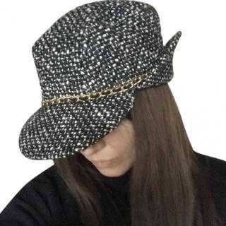 Chanel VIntage Tweed Chain Trim Cap