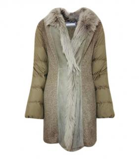 Fabiana Filippi Merino Wool & Cashmere Shearling Trimmed Gilet/Coat