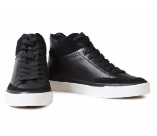Rag & Bone RB Army suede-trimmed leather high-top sneakers